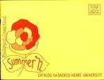 Summer 1972 Catalog by Sacred Heart University