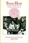 1992-1994 Undergraduate Catalog by Sacred Heart University
