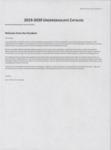 2019-2020 Undergraduate Catalog